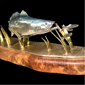 spotted speckled sea trout sculptures