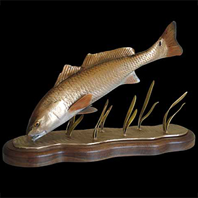 redfish sculptures