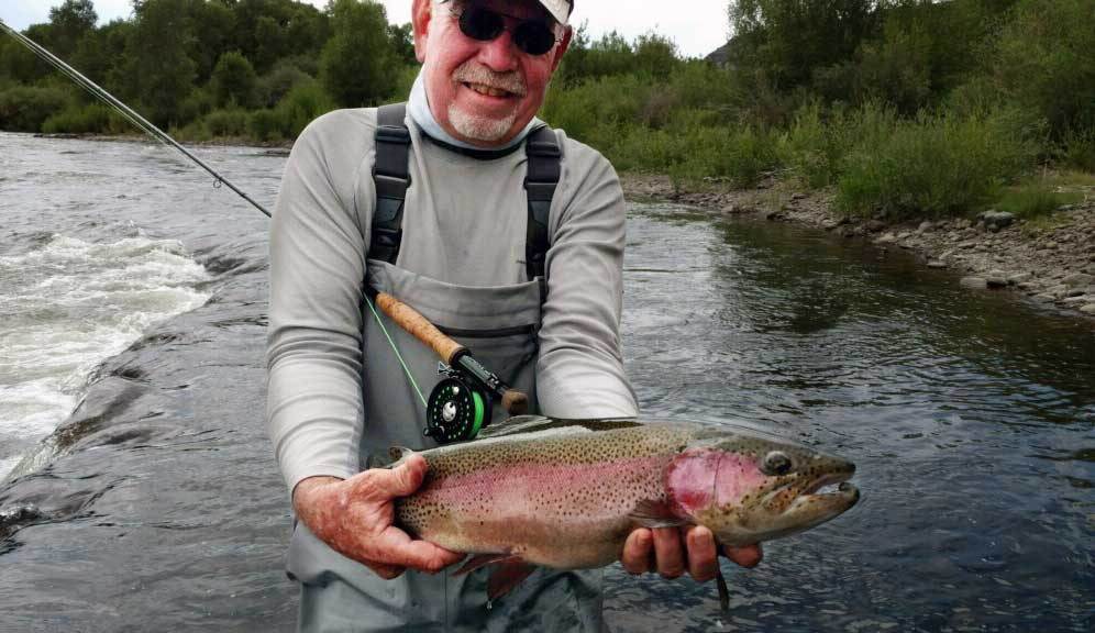 Roger Fowler with rainbow trout